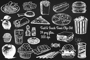 Chalk Sketchy Fast & Snack Foods
