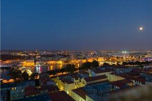 Colorful nightscape of city Zadar