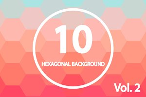 10 Hexagonal Backgrounds. Vol. 2