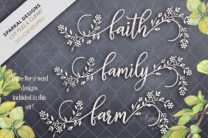 FARMHOUSE -Faith Family Farm- SVG