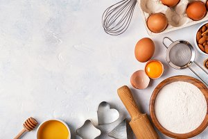 Ingredients for baking