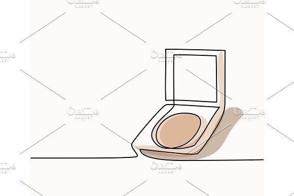 Cosmetic Compact Powder Logo