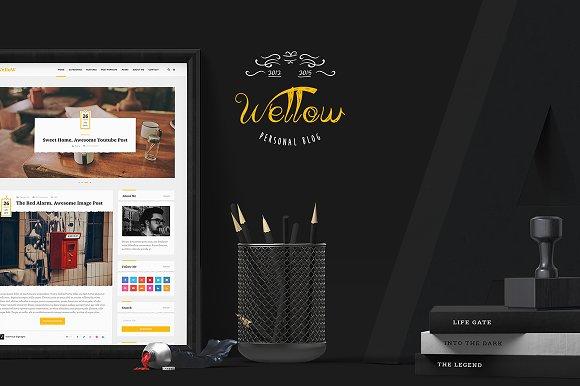 Wellow Blogging PSD Template