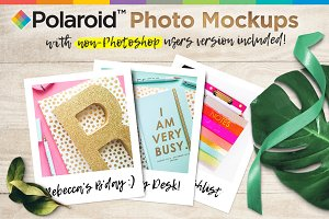 Polaroid Photo Mockups Scene
