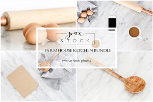 Farmhouse Kitchen Stock Bundle