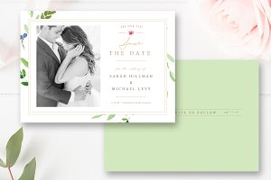 Save the Date Photo Card PSD