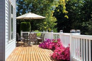 Home Deck with Garden