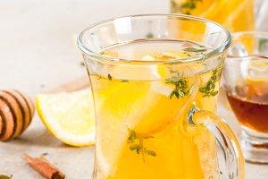 Warming lemon and ginger tea