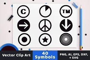 40 Symbols in Circles