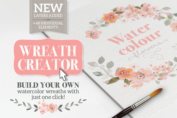 Watercolour Wreath Creator