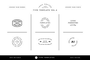Type Template Vol. 4