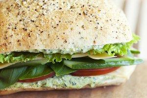 Crisp Vegetable Sandwich