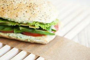 Cucumber & Tomato Sandwich