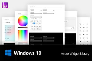 Axure Windows 10 Widget Library