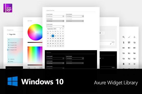 Axure Windows 10 Widget Library