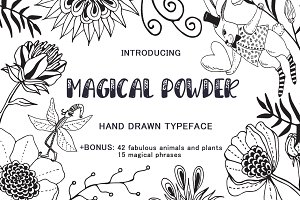 Magical Powder - typeface & elements