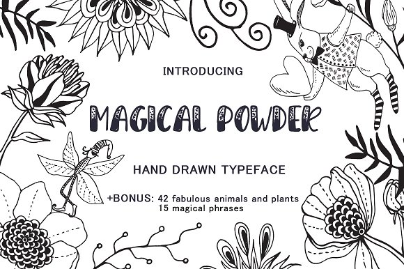 Magical Powder Typeface Elements