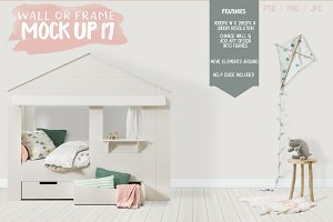 Kids Room Wall/Frame Mock Up 17