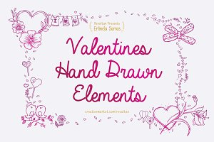 Valentine's Hand Drawn Elements