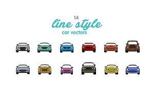 14 Line Style Car Vector