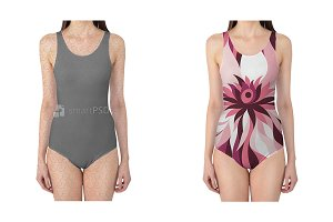 Swimsuit Dress Design Mockup