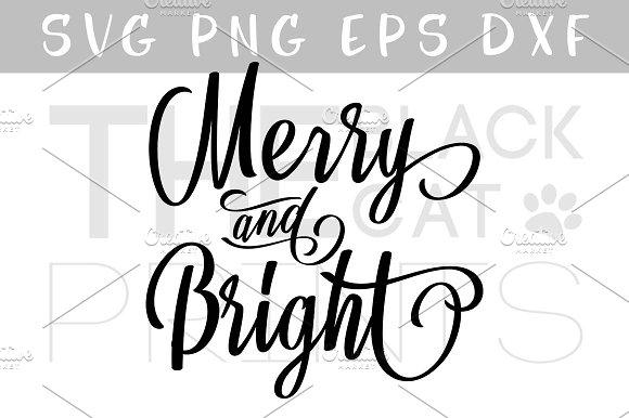 Merry Bright SVG Christmas SVG DXF