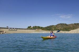 Kayak in a lake