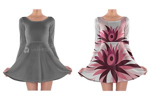 Long Sleeve Skater Dress design
