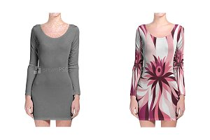 Longsleeve Bodycon Dress Design
