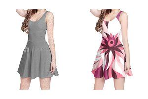 Feminine Sleeveless Dress Design