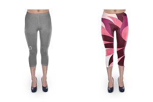 Cropped Legging Design Mockup