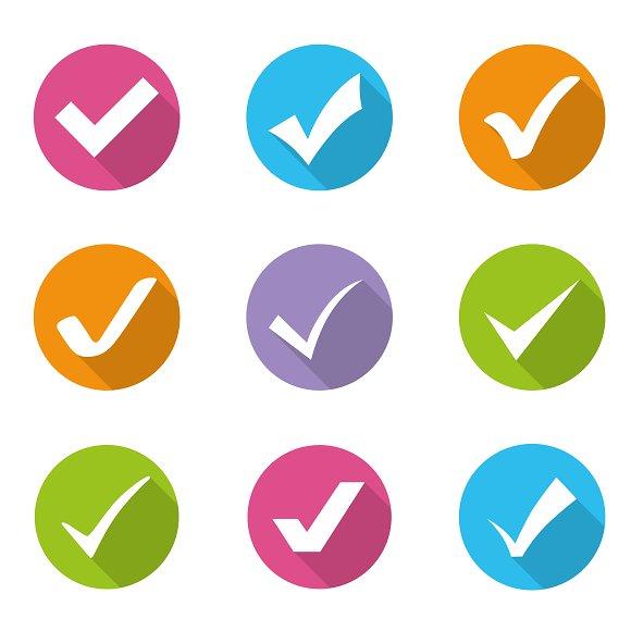 Check Marks Icons Vector Set