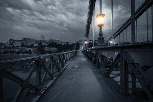 Budapest rainy night