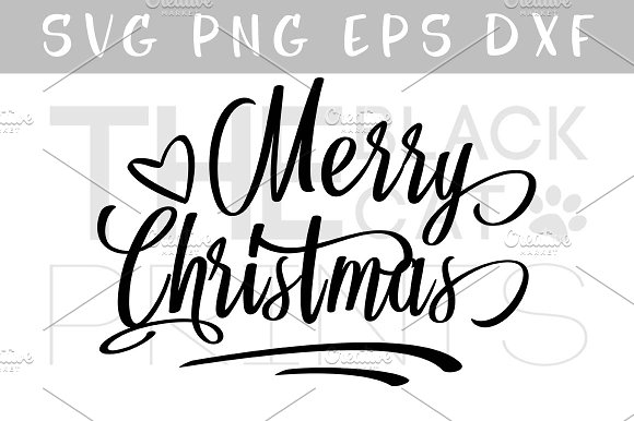 Merry Christmas SVG DXF EPS PNG Cut