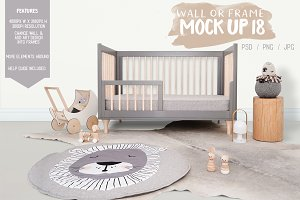 Kids Room Wall/Frame Mock Up 18