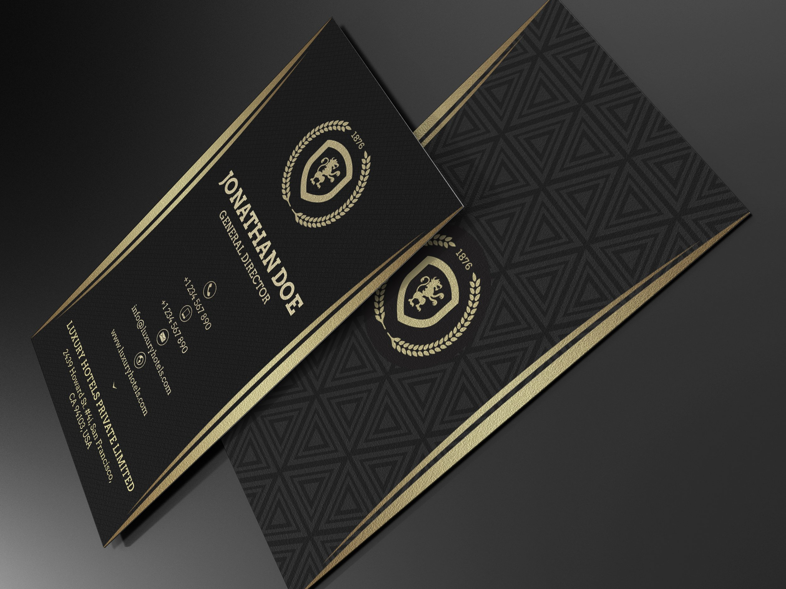 Gold and Black Business card #55 ~ Business Card Templates ...