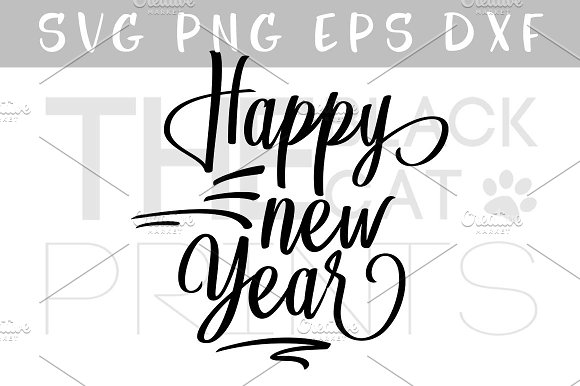 Happy New Year SVG DXF EPS PNG