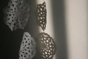 paper snowflake detail