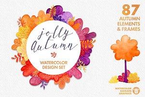 Watercolor Autumn Scene Creator Fall