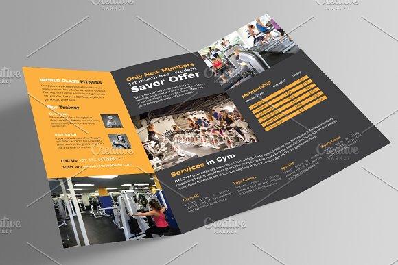 Gym Brochure | Gym Trifold Brochure Brochure Templates Creative Market