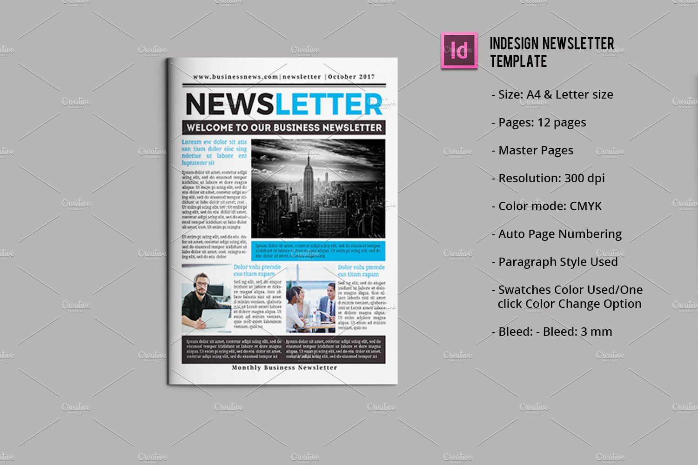 Business Newsletter Template V751 Brochure Templates Creative Market
