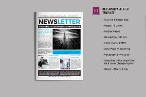 Business Newsletter Template V751