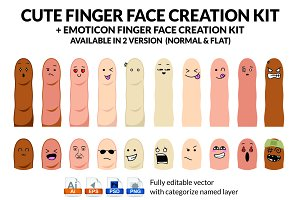 Cute Finger Face Creation Kit