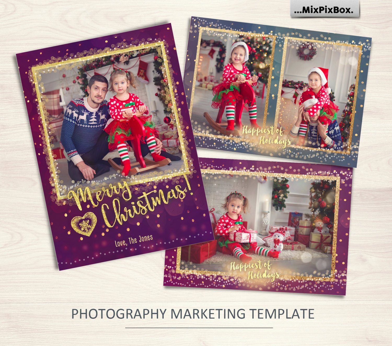 Christmas Card Template | Creative Photoshop Templates ...