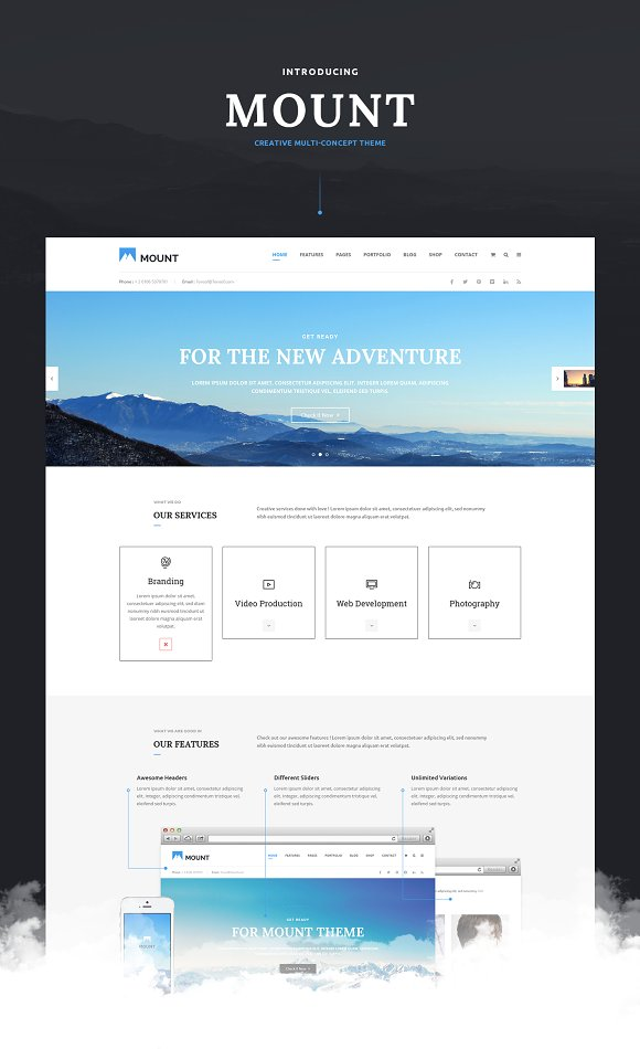 Mount Multi Business PSD Template