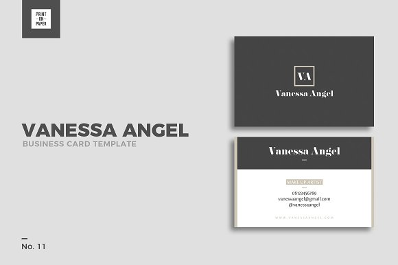 Vanessa Angel Business Card No 11