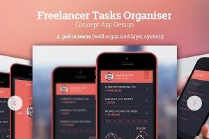 Freelancer Tasks Organiser - Concept