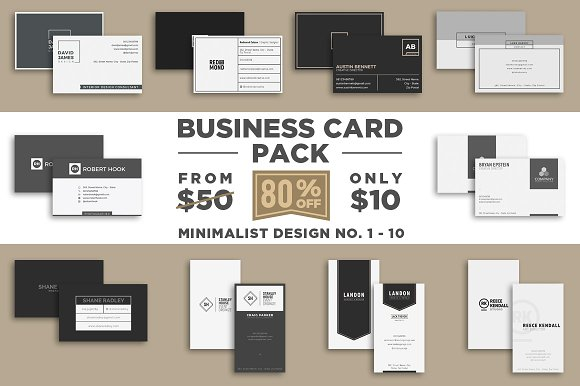 Minimalist Business Card Pack