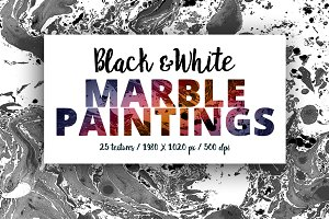 Black & White Marble Paintings -50%