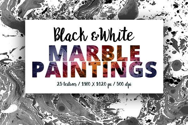 Black & White Marble Paintings -50%